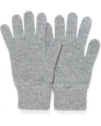 Sunspel - Cashmere Gloves In Mid Grey Melange - Lyst