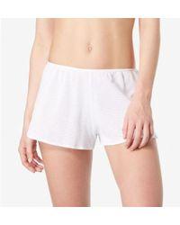 Sunspel - Women's French Knicker In Cellular Cotton In White - Lyst