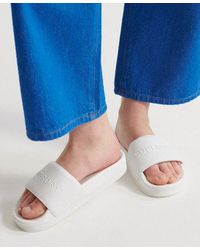 Superdry Arizona High Build Flatform Sliders - White