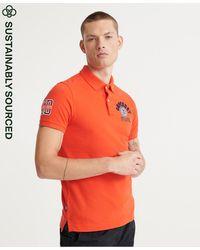 Superdry Klassieke Superstate-polo - Oranje