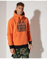 Superdry Sport Snow Tech Hoodie Jacket - Orange