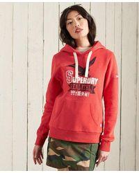 Superdry Vintage Varsity Hoodie - Red