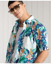 Superdry Hawaiian Box Fit Shirt - Blue