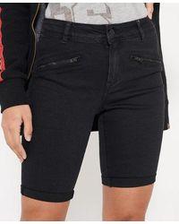 Superdry Elana Skinny Shorts - White