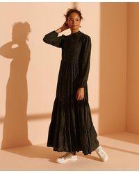 Superdry Skylar Maxi-jurk - Zwart