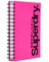 Superdry Ring Bound Author Notepad - Pink