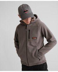 Superdry Polar Fleece Zip Hoodie - Grey