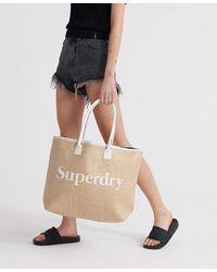 Superdry Darcy Jute Tote Bag - Natural