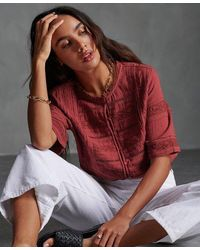 Superdry Ellison Textured Blouse