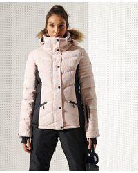 Superdry Sport Snow Luxe Puffer Jacket - Metallic