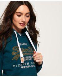 Superdry - Premium Goods Rhinestone Hoodie - Lyst