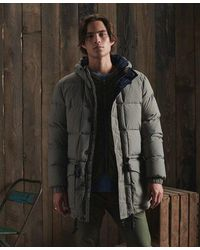 Superdry Dry Limited Edition Dry Down Parka Coat - Metallic