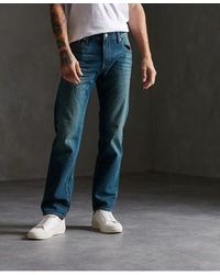 Superdry 04 Daman Straight Jeans - Blue
