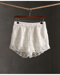 Superdry Morgan Lace Short - Wit