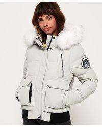 Superdry Blouson aviateur Everest Ella - Rouge
