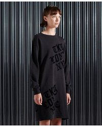 Superdry City New York Sweat Dress - Black