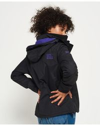 Superdry Pop Zip Hooded Arctic Sd-windcheater Jacket - Black