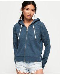 Superdry Ivy Broidery Zip Hoodie - Blue