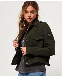 Superdry Military Crop Jacket - Multicolour