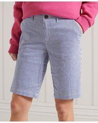 Superdry Pantalones cortos chinos City - Azul