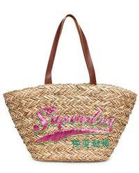 Superdry Anya Straw Tote Bag - Natural