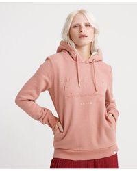 Superdry Applique Hoodie - Pink