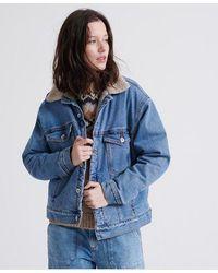 Superdry Frankie Denim Jacket - Blue
