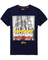 Superdry - Box Photo City Barcelona T-shirt - Lyst