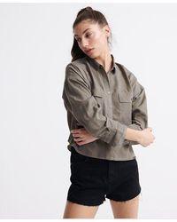 Superdry Camisa oversize Desert - Verde