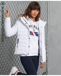 Superdry Classic Faux Fur Fuji Jacket - White
