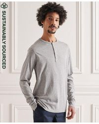 Superdry - Organic Cotton Lightweight Essential Henley Top - Lyst