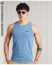 Superdry Organic Cotton Classic Vest - Blue