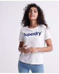 Superdry - Flock Boxy T-shirt - Lyst