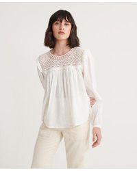 Superdry Ellison Lace Long Sleeve Top - Multicolour