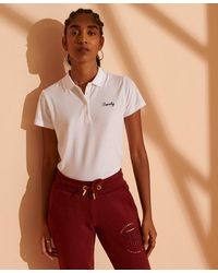 Superdry Polo Scripted - Blanc