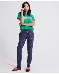 Superdry Cny Zodiac All Over Print Joggers - Blue