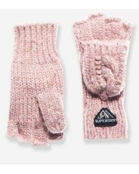 Superdry Gracie Cable Gloves - Pink