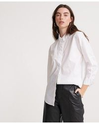 Superdry - Edit White Shirt - Lyst