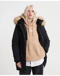Superdry Ashley Everest Parka Jacket - Black