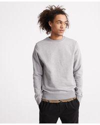 Superdry Standard Label Sweatshirt Van Biologisch Katoen Met Ronde Hals - Grijs