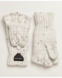 Superdry Gracie Handschoenen Met Kabelpatroon - Wit