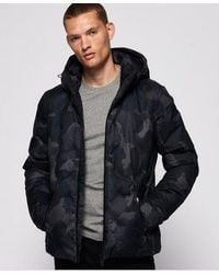 Superdry Echo Quilted Puffer Jacket - Blue
