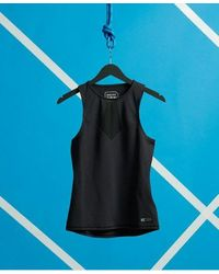 Superdry Camiseta de compresión sin mangas Training - Negro