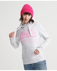 Superdry Classics Entry Hoodie - White