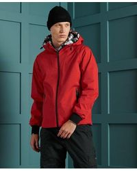Superdry Echo Beach Cagoule - Red