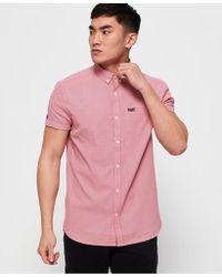 Superdry - Premium University Oxford Short Sleeve Shirt - Lyst