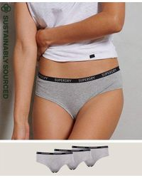 Superdry Organic Cotton Essential Boxer Triple Pack - Grey