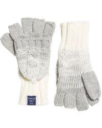 Superdry Clarrie Handschoenen Met Kabelpatroon - Grijs