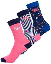 Superdry - Bella Ditsy Socks Triple Pack - Lyst