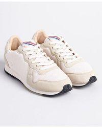 Superdry Retro Logo Runner Sneakers - White